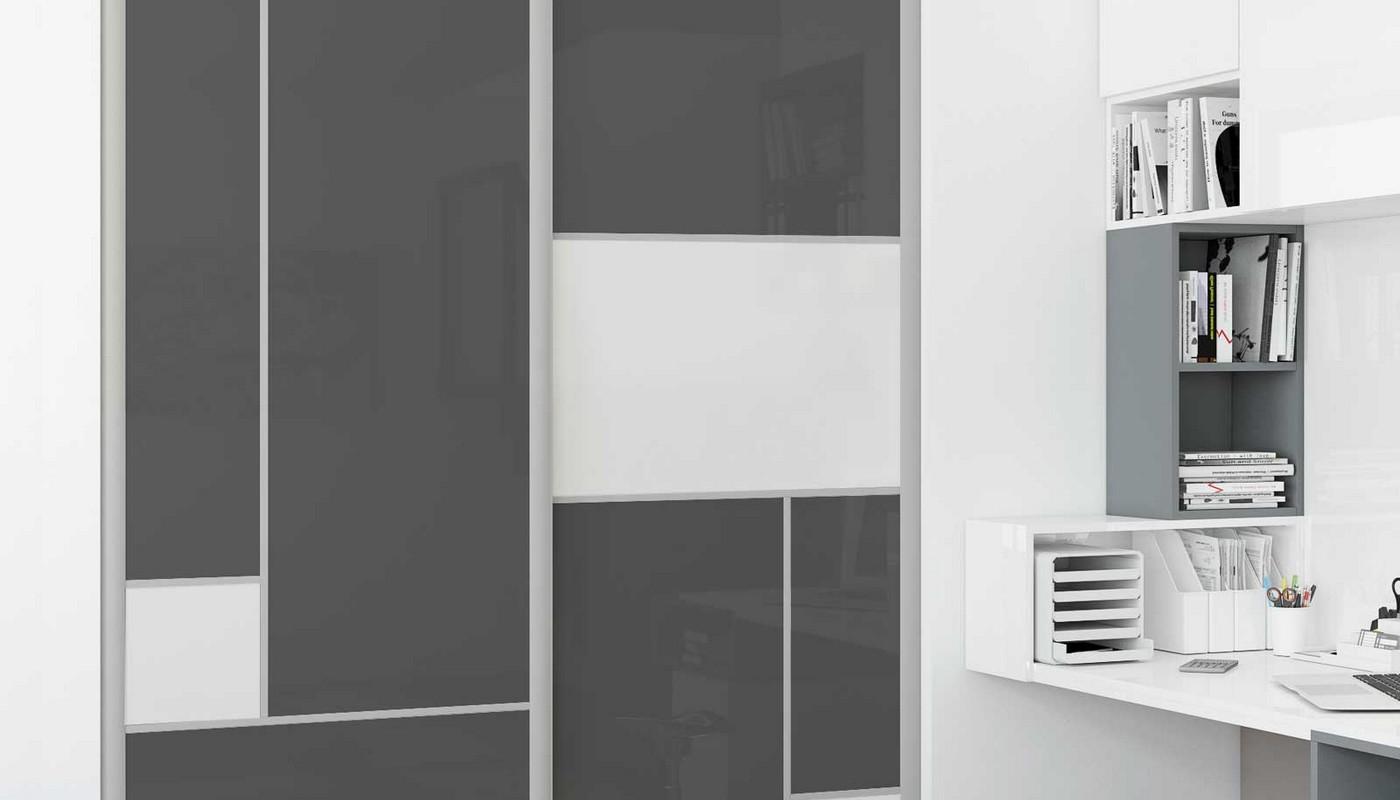 placard et rangement affordable porte placard coulissant pas cher rangement placard bricorama. Black Bedroom Furniture Sets. Home Design Ideas